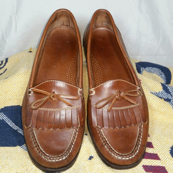 949da1e8391 Cole Haan Other - Cole Haan Dwight Loafer Moc Toe Shoes Fringe Bow